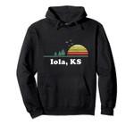Vintage Iola, Kansas Home Souvenir Print Pullover Hoodie, T Shirt, Sweatshirt