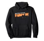 Baton Rouge Louisiana Skyline Retro Grafitti Style Pullover Hoodie, T Shirt, Sweatshirt