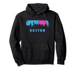 Retro 80s Boston Massachusetts Downtown Skyline Pullover Hoodie, T Shirt, Sweatshirt