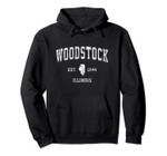 Woodstock Illinois IL Vintage Athletic Sports Design Pullover Hoodie, T Shirt, Sweatshirt