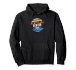 Vintage Benton, Iowa Sunset Souvenir Print Pullover Hoodie, T Shirt, Sweatshirt