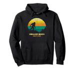 Retro Bayou Highland Beach, Maryland Bigfoot Souvenir Pullover Hoodie, T Shirt, Sweatshirt