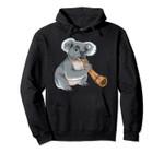 Cool Koala Playing Didgeridoo Gift | Funny Bear Musician Fan Pullover Hoodie, T Shirt, Sweatshirt
