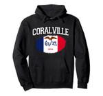 CORALVILLE IA IOWA Flag Vintage USA Sports Men Women Pullover Hoodie, T Shirt, Sweatshirt