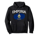 EMPORIA KS KANSAS Flag Vintage USA Sports Men Women Pullover Hoodie, T Shirt, Sweatshirt
