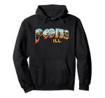 Peoria Illinois IL Vintage Retro Souvenir Pullover Hoodie, T Shirt, Sweatshirt