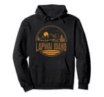Vintage Lapwai, Idaho Mountain Hiking Souvenir Print Pullover Hoodie, T Shirt, Sweatshirt