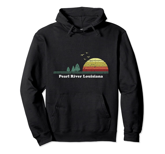 Vintage Pearl River, Louisiana Sunset Souvenir Print Pullover Hoodie, T Shirt, Sweatshirt