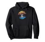 Vintage Ely, Iowa Sunset Souvenir Print Pullover Hoodie, T Shirt, Sweatshirt