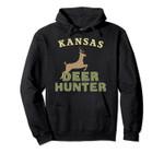 Kansas Deer Hunter Hunting Gift Pullover Hoodie, T Shirt, Sweatshirt