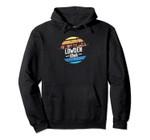 Vintage Lowden, Iowa Sunset Souvenir Print Pullover Hoodie, T Shirt, Sweatshirt
