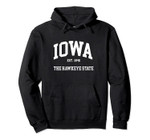 Iowa The Hawkeye State Pullover Hoodie, T Shirt, Sweatshirt