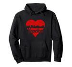 Retro Topeka Kansas Skyline Red Heart Distressed Pullover Hoodie, T Shirt, Sweatshirt