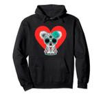 Sugar Skull Koala Heart Valentines Day Pullover Hoodie, T Shirt, Sweatshirt