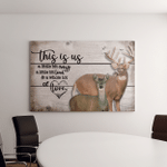 This is us - Deer - Landscape Canvas