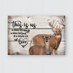 This is us - Deer - Poster and Canvas