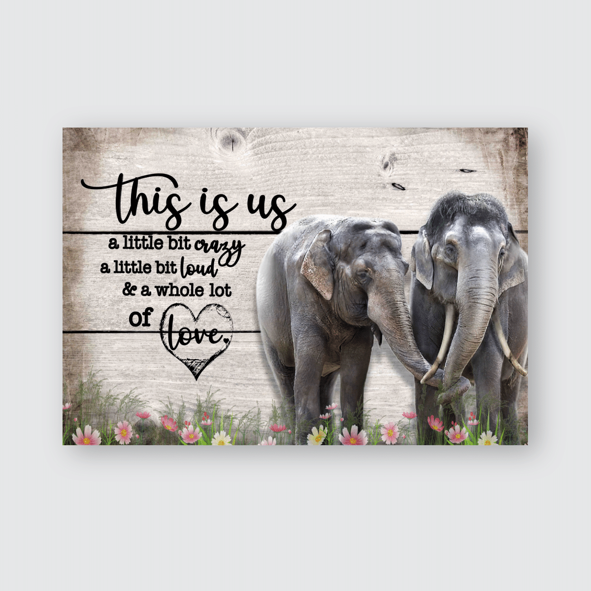 This is us -Elephant - Poster and Canvas