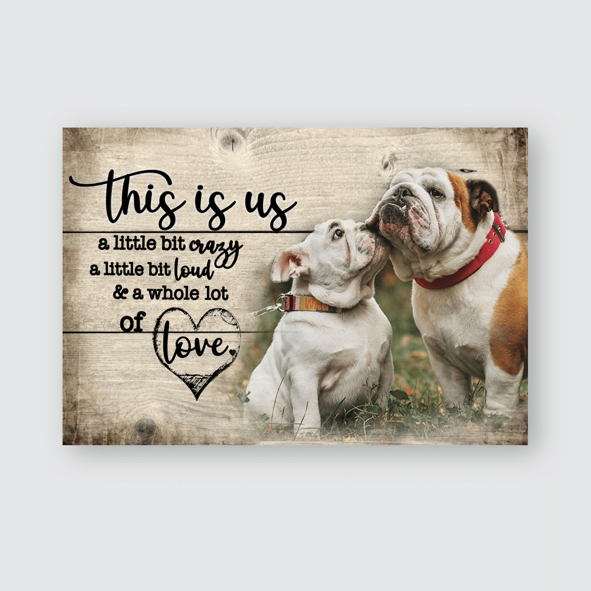 This is us - Bulldog - Poster and Canvas