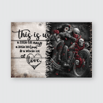 This is us - Motorcycles Skull - Poster and Canvas