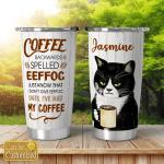 Coffee backwwards is spelled eeffog - Cat