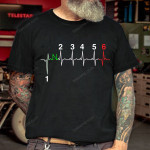 1 2 3 4 5 6 Heart beat Biker T-shirt, Sweatshirt, Hoodie