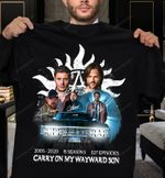 Supernatural - Family don't end with blood - Carry on my wayward son T-shirt, Sweatshirt, Hoodie