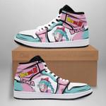 Bulma Sneaker Boots J1 Dragon Ball Z Anime Shoes Custom MN04