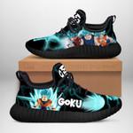 Goku Saiyan Blue Sneakers Reze Dragon Ball Shoes Anime Fan Gift TT04