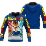 Prince Vegeta Zip Hoodie Cosplay Dragon Ball Shirt Anime Fan Gift VA06