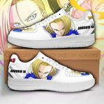 Android 18 Sneakers Custom Dragon Ball Z Shoes Anime PT04