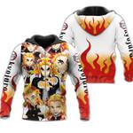 Rengoku Zip Hoodie Demon Slayers Shirt Costume Anime Fan Gift Idea VA06