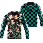 Tanjiro Zip Hoodie Demon Slayers Shirt Costume Anime Fan Gift Idea VA06