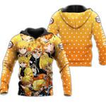 Zenitsu Zip Hoodie Demon Slayers Shirt Costume Anime Fan Gift Idea VA06