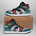 Deku Izuku Sneaker Boots J1 Custom My Hero Academia Shoes Anime MN05