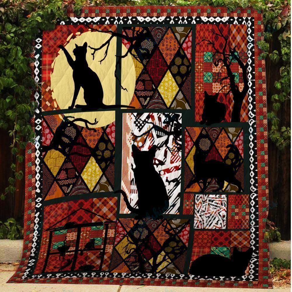 BC Black Cat Quilt Blanket