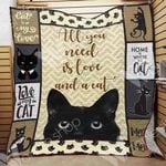 Black Cat Blanket SEP2703 95O42