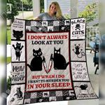Black Cat Halloween Blanket SEP2702 95O31