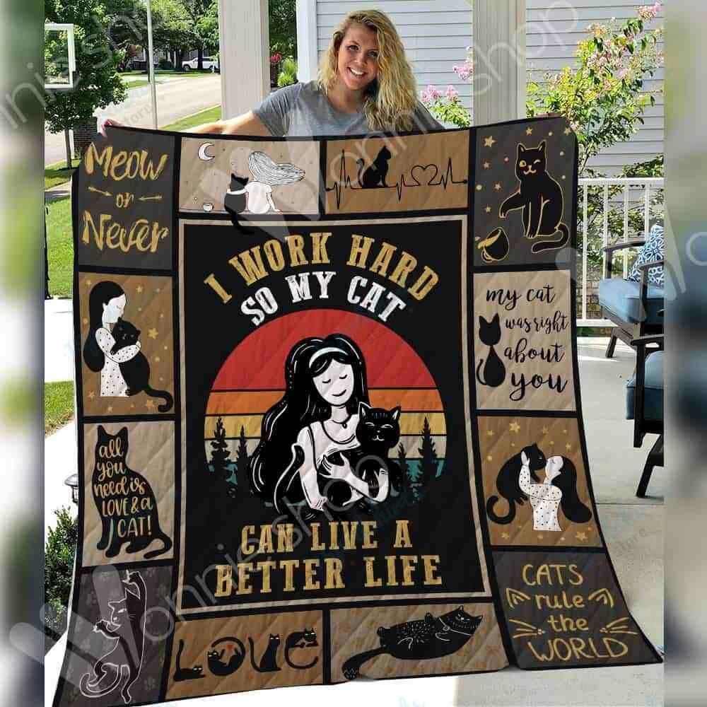 Black Cat Girl Blanket SEP2702 82O42