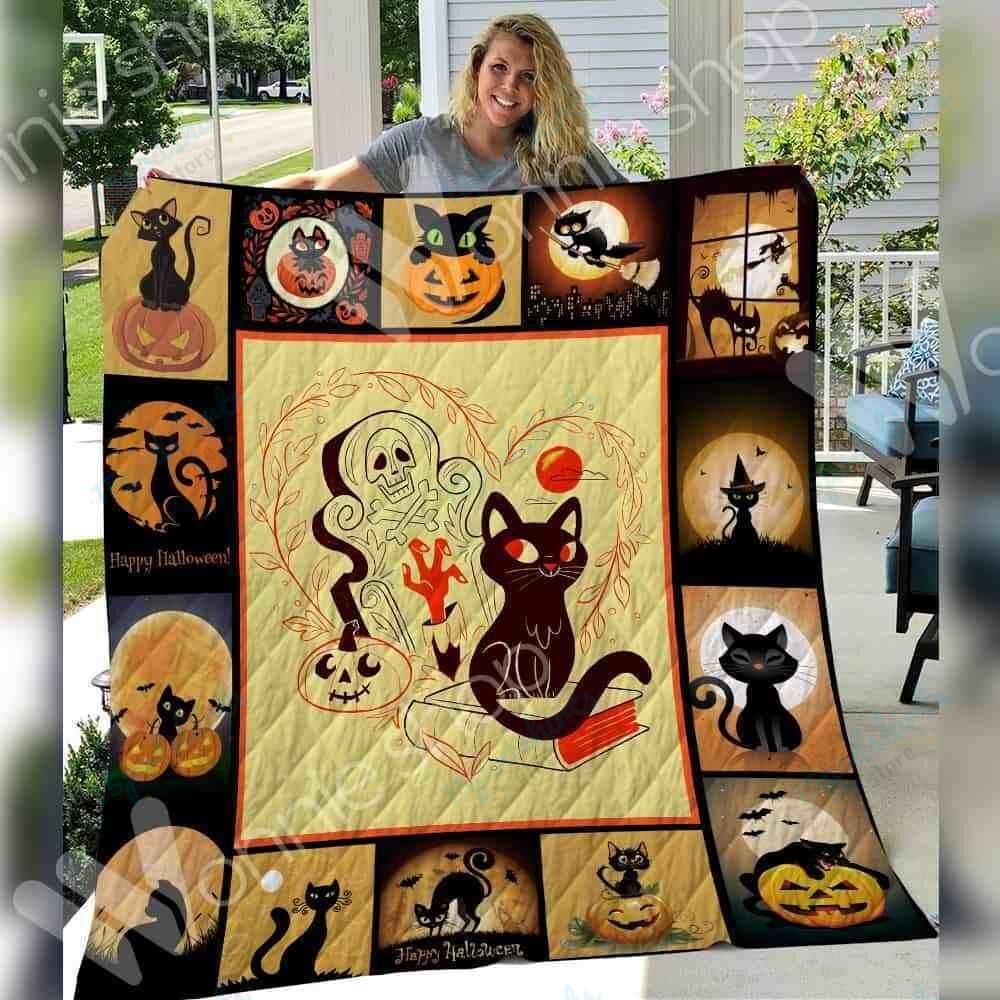 Black Cat Halloween Blanket SEP2703 77O31