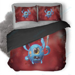 Social Bacterium Illustration Duvet Cover Bedding Set