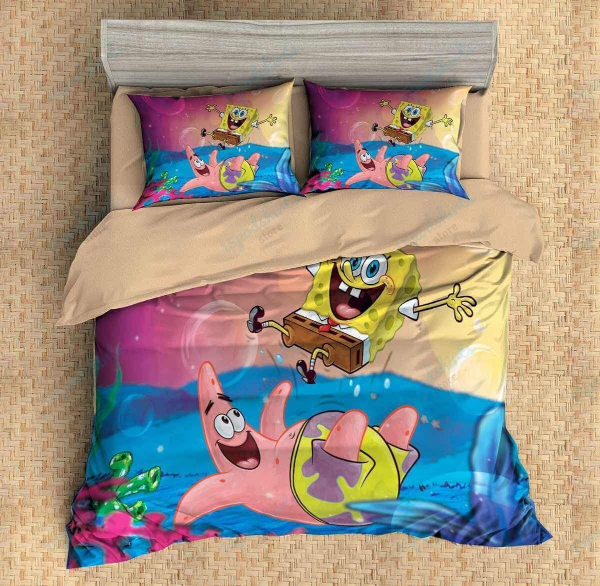 Spongebob Squarepants 2 Duvet Cover Bedding Set