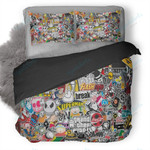Stickers Style Duvet Cover Bedding Set