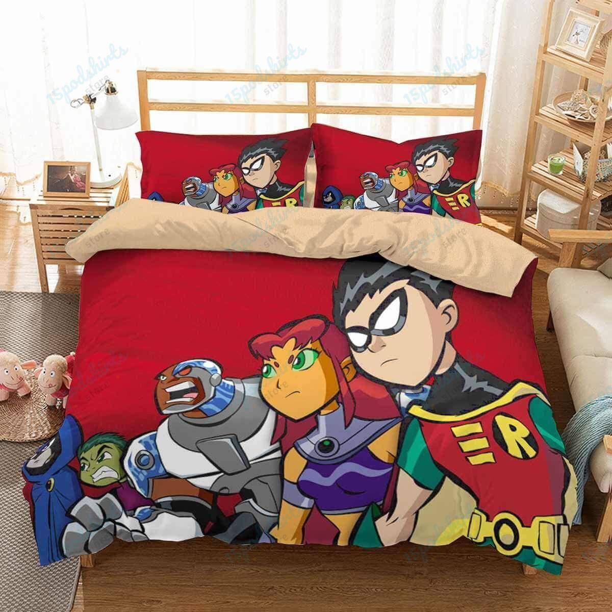 Teen Titans 4 Duvet Cover Bedding Set