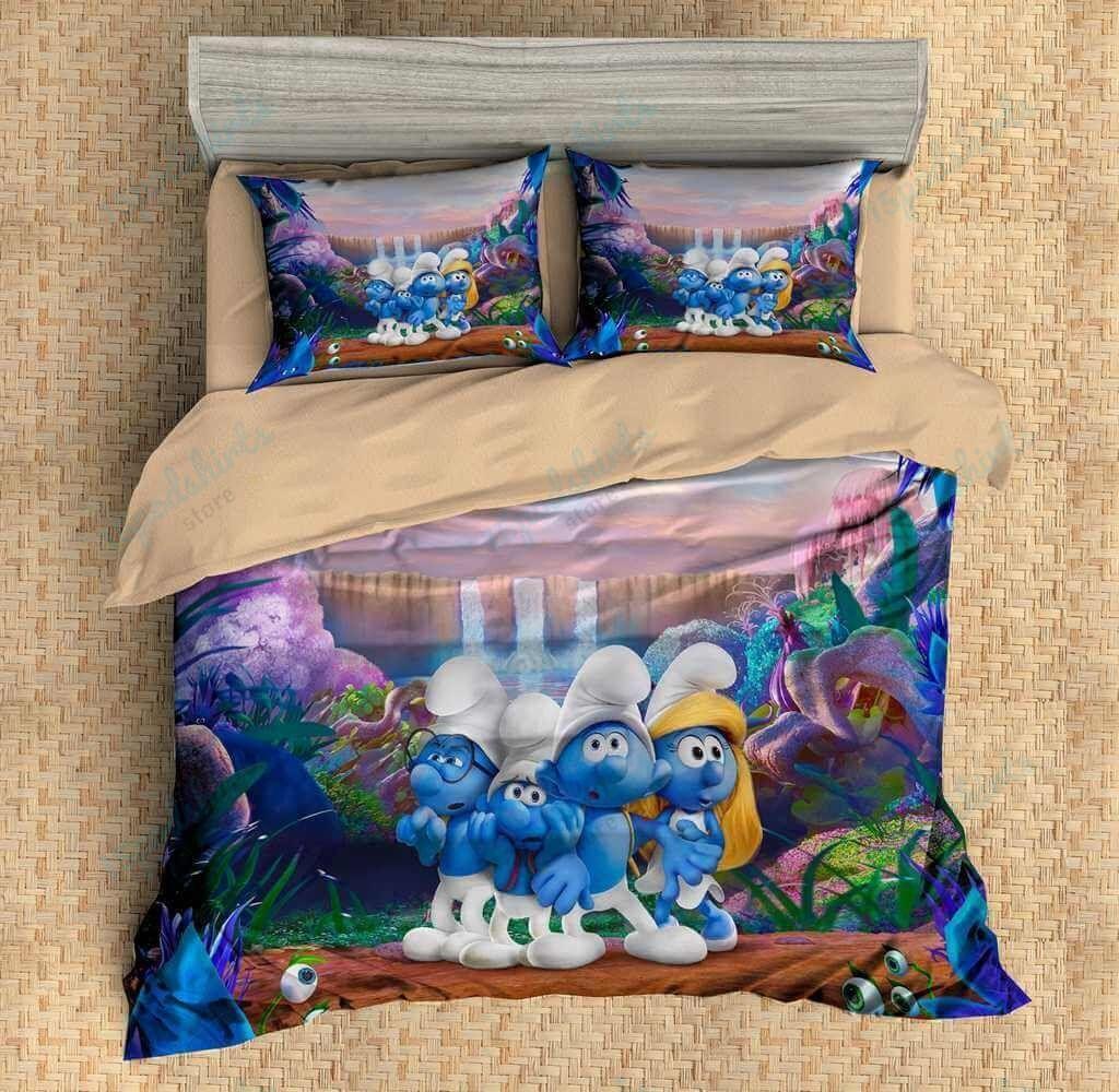 The Smurfs Duvet Cover Bedding Set