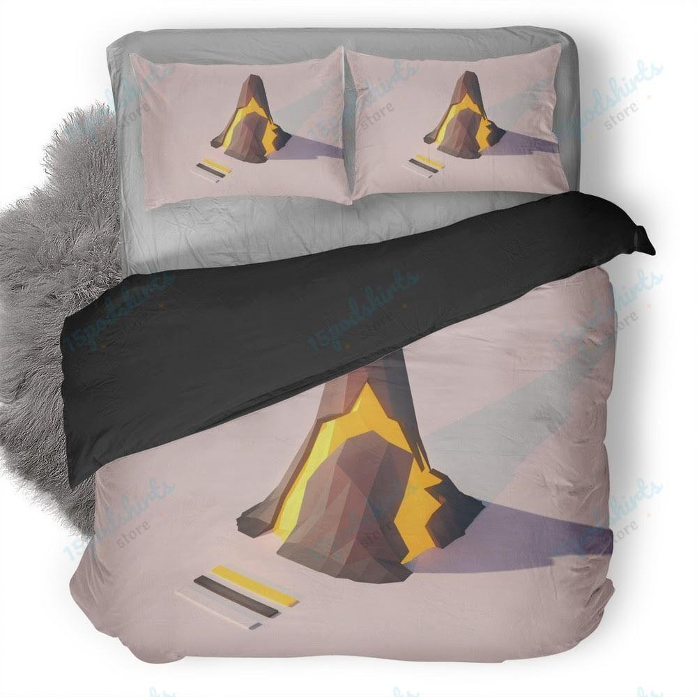 Volcano Lowpoly Duvet Cover Bedding Set