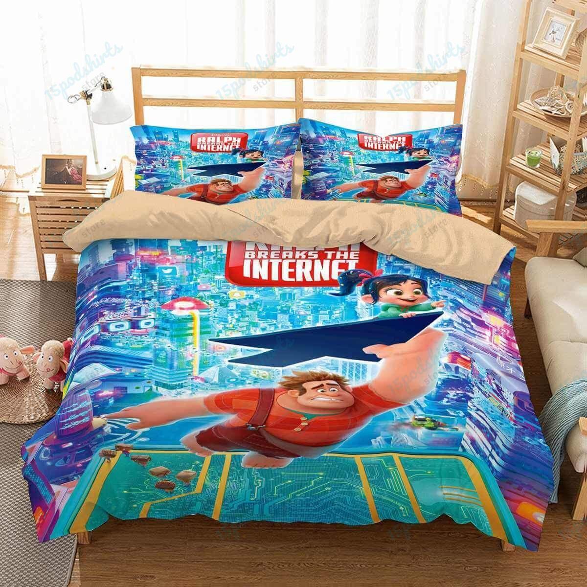 Wreck It Ralph 2 4 Duvet Cover Bedding Set