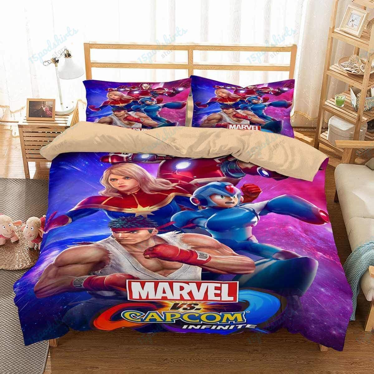Marvel Vs Capcom Infinite 1 Duvet Cover Bedding Set