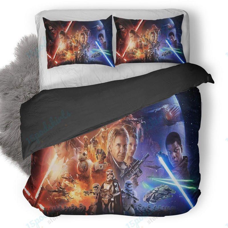 Star Wars The Force Awakens Poster Duvet Cover Bedding Set