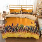 Superheroes Marvel Comics Duvet Cover Bedding Set