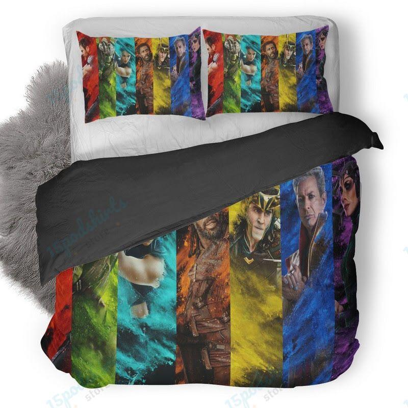 Thor Ragnarok Characters 4 Duvet Cover Bedding Set
